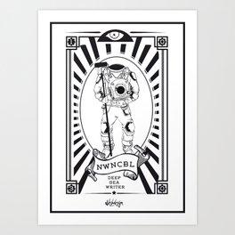 DEEP SEA WRITER Art Print