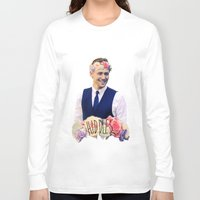 tom hiddleston Long Sleeve T-shirts featuring Tom Hiddleston FlowerCrown by Shelby Breese