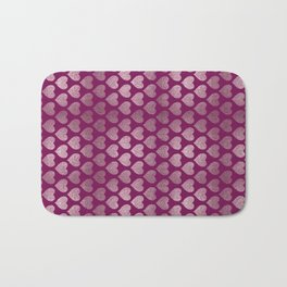 Hearts pattern Bath Mat