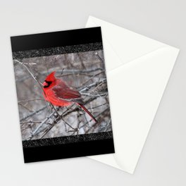 The Snow Cardinal Stationery Cards