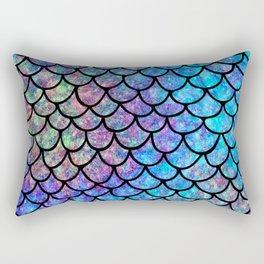 Colorful Mermaid Scales Rectangular Pillow