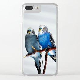 love birds Clear iPhone Case