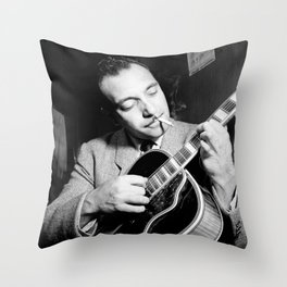 Django Reinhardt at the Aquarium Jazz Club Throw Pillow