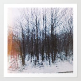 Altered Drive-By Forest Art Print