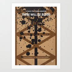 No358 My There Will Be Blood minimal movie poster Art Print