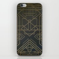 art deco iPhone & iPod Skins featuring Art Deco by Chris Viel