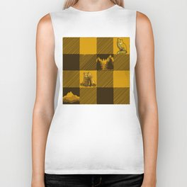 The Fox and The Bear Plaid #1 Yellow Biker Tank