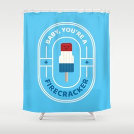 Punny Pops: Firecracker Shower Curtain