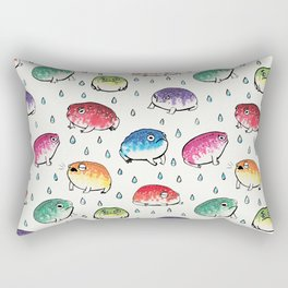 Round Rain Frogs Rectangular Pillow