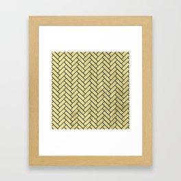 Herringbone Pattern Framed Art Print