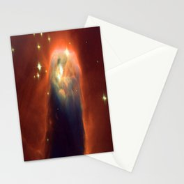 Space Volcano Stationery Cards