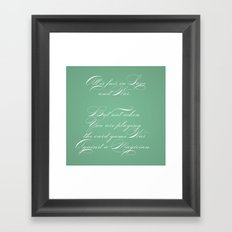 Proverbs: All is Fair Framed Art Print