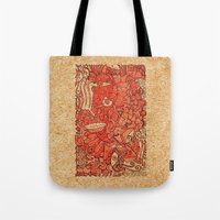 wood Tote Bags featuring - wood - by Magdalla Del Fresto
