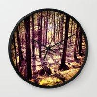 western Wall Clocks featuring Western Woods by Ken Seligson