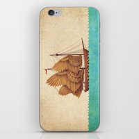 brown iPhone & iPod Skins featuring Winged Odyssey by Terry Fan