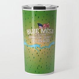 Blue Mesa Reservoir map travel poster. Travel Mug