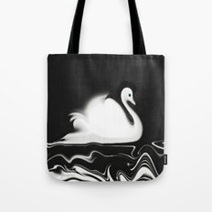 Swan Painting Tote Bag