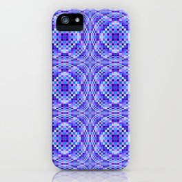 Purple and Blue Implosion iPhone Case