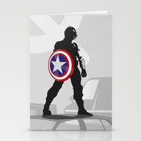 bucky barnes Stationery Cards featuring Bucky Barnes by Samantha Panther