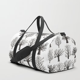 Monochrome Forest Duffle Bag
