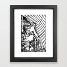 asc 318 - La dame de voyage (The starship escort girl) Framed Art Print