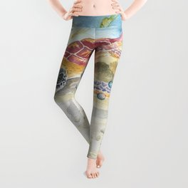 Colorful Sea Turtle 2 Leggings