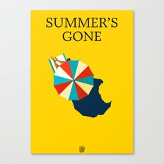Summer's gone Canvas Print