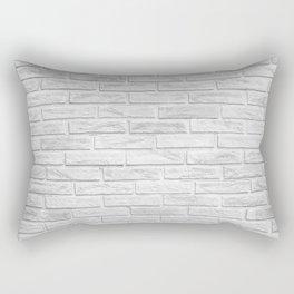 White Brick Rectangular Pillow