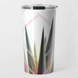 Tropical Desire - Foliage and geometry Travel Mug