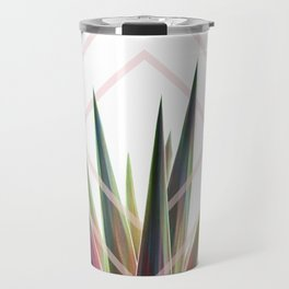 Tropical Desire - Foliage and geometry Travel Mug