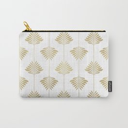 Gold leafs art-deco pattern Carry-All Pouch