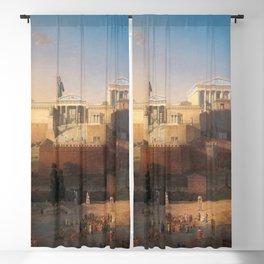 The Acropolis of Athens, Greece by Leo von Klenze Blackout Curtain