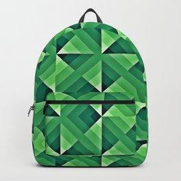 Green Geo Pattern Backpack