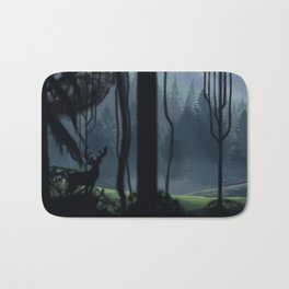 Viking Village in the Forest Bath Mat
