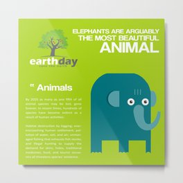 Save Elephants Metal Print