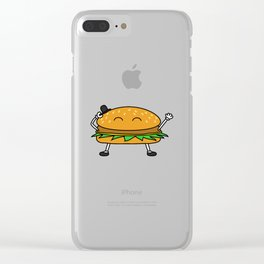 Burger with Hat Clear iPhone Case