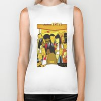 pulp Biker Tanks featuring Pulp Fiction by Ale Giorgini