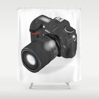 camera Shower Curtains featuring Camera by VincenzoRusso
