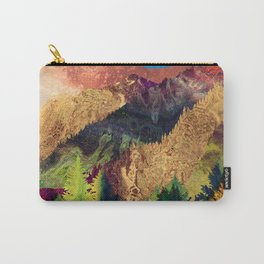 Abstract Mountain Landscape  and forest Digital Art Carry-All Pouch