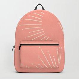 Simply Sunburst in White Gold Sands on Salmon Pink Backpack