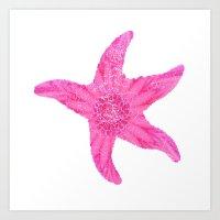 hawaiian Art Prints featuring Hawaiian Starfish by Teresa Chipperfield Studios