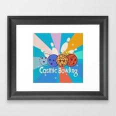 Cosmic Bowling Framed Art Print