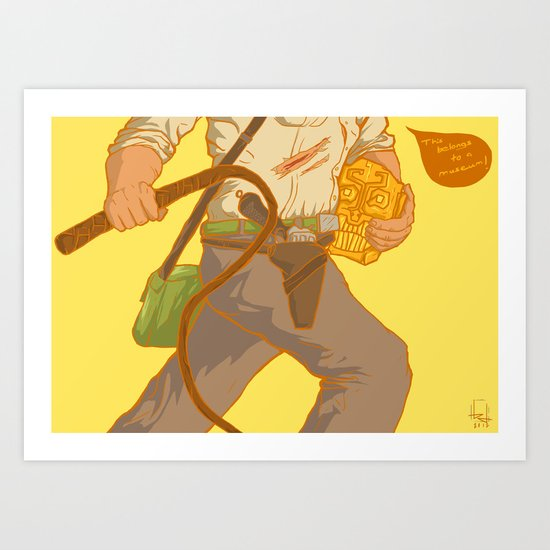 Golden Idol Art Print