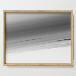 Gray Smooth Ombre Serving Tray