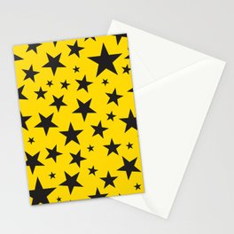 Black stars Stationery Cards