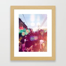 In the market Framed Art Print