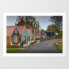 Dutch Shops on Windmill Island in Holland Michigan a Taste of the Netherlands Art Print