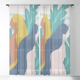Feminism Spring Time Sheer Curtain