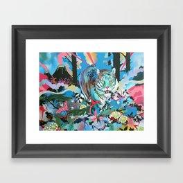 Year of the Scavenger Tiger Framed Art Print