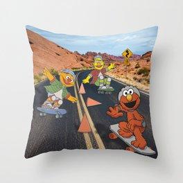 Sesame Skate Throw Pillow